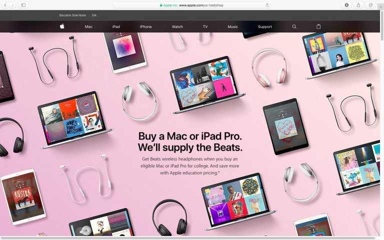 """Apple's """"Back to School Promotion"""" Offers Students Free Beats Headphones"""