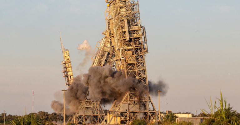Iconic Launch Towers At The Cape Canaveral Knocked Downed